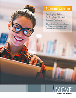 Cover of the broshure 8 Case Studies from the Sector of E-Learning Solutions and Learning with Digital Media