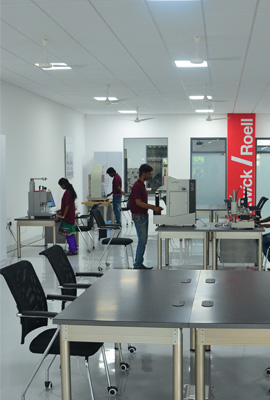 The first batch of the Zwick Testing machine operators in the newly opened Zwick Roell Academy in Chennai-Basin Bridge.